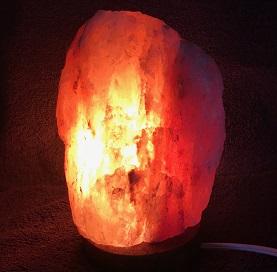 Small Himalayan Salt Lamp Turned on web20